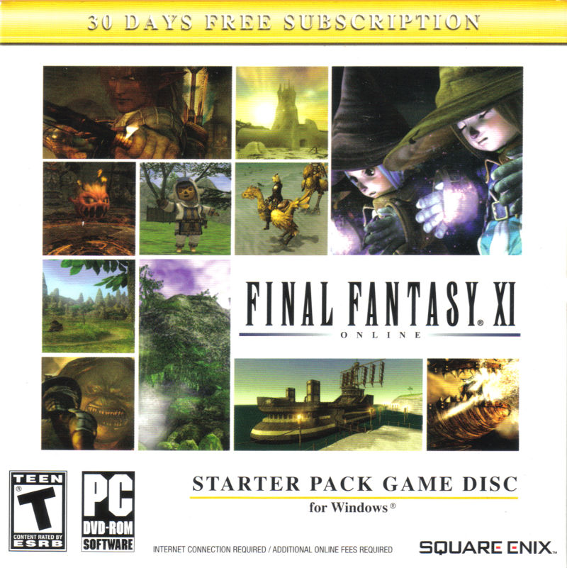 Final Fantasy XI Online: Starter Pack Windows Front Cover