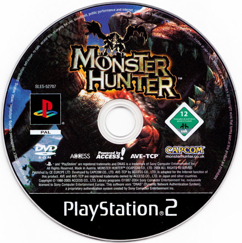 Terms Of Use: Monster Hunter (2004) PlayStation 2 Box Cover Art
