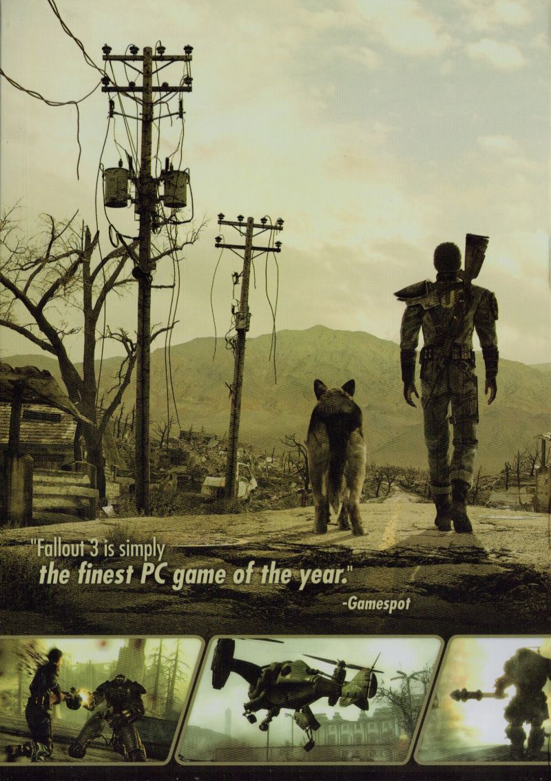Fallout 3: Game of the Year Edition Windows Inside Cover Left side