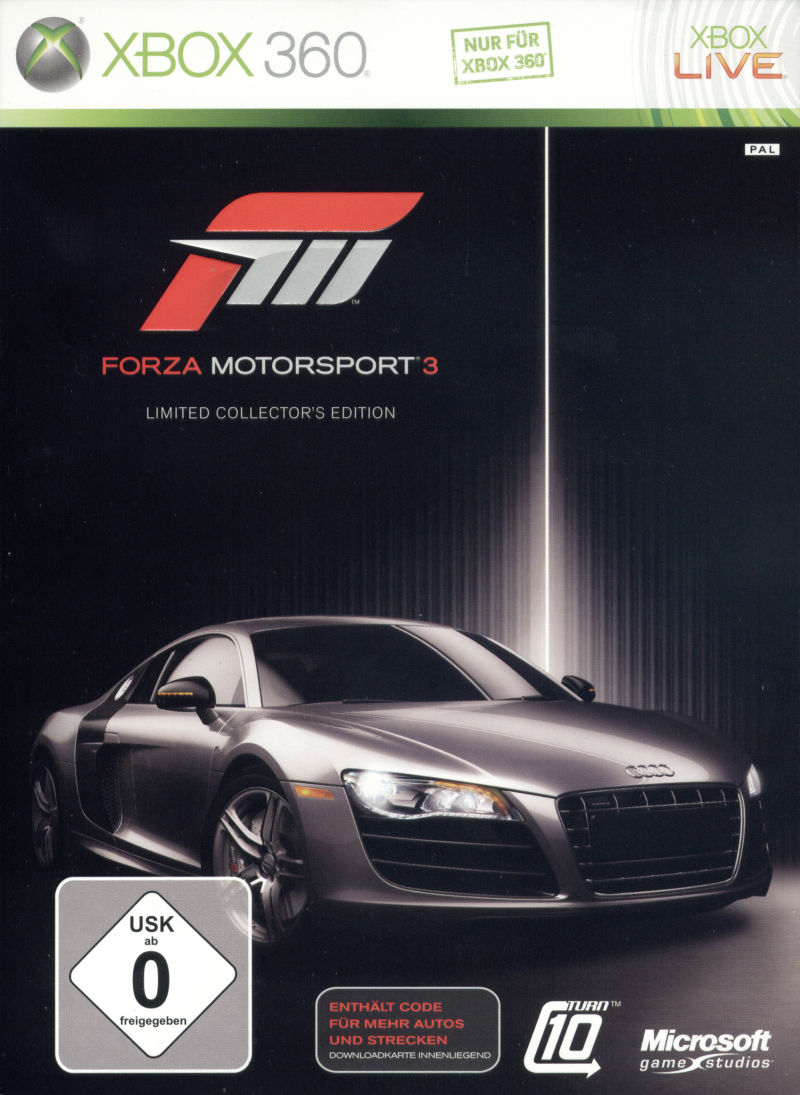 Forza Motorsport 3 (Limited Collector's Edition) Xbox 360 Front Cover