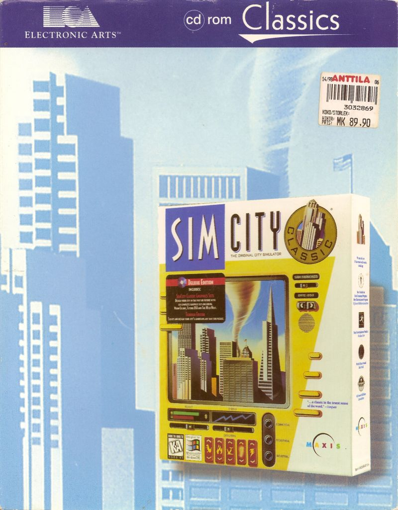 SimCity Windows Front Cover