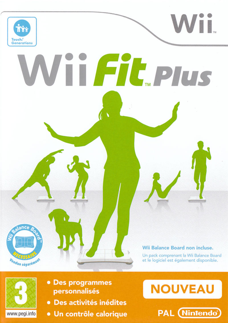 Wii Fit Plus Wii Front Cover