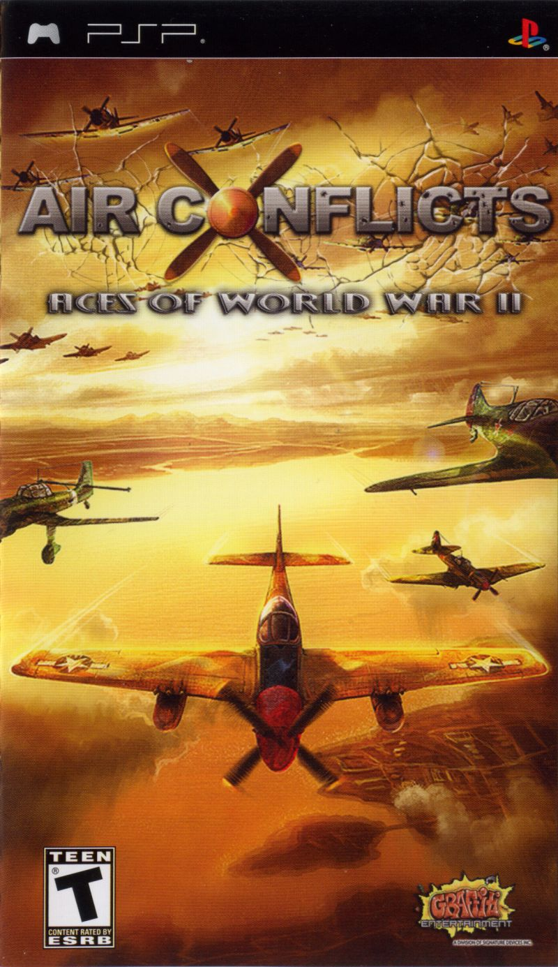 Air Conflicts: Aces of World War II PSP Front Cover