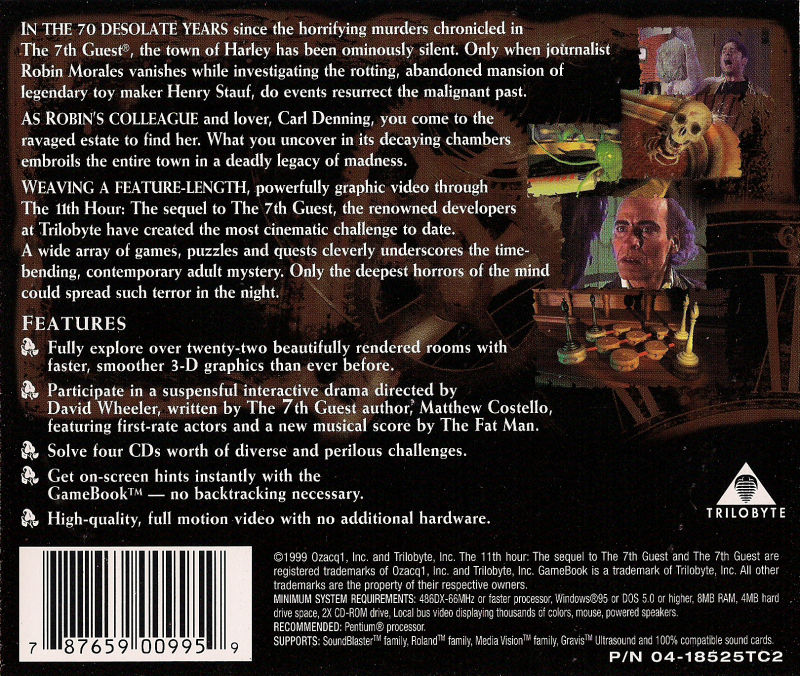 The 11th Hour DOS Back Cover