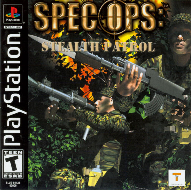 Spec Ops: Stealth Patrol PlayStation Front Cover also Manual Front