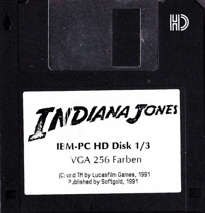 Indiana Jones and the Last Crusade: The Graphic Adventure DOS Media Disk 1/3