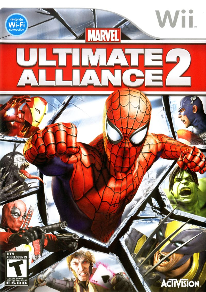 Marvel Ultimate Alliance 2 Wii Front Cover