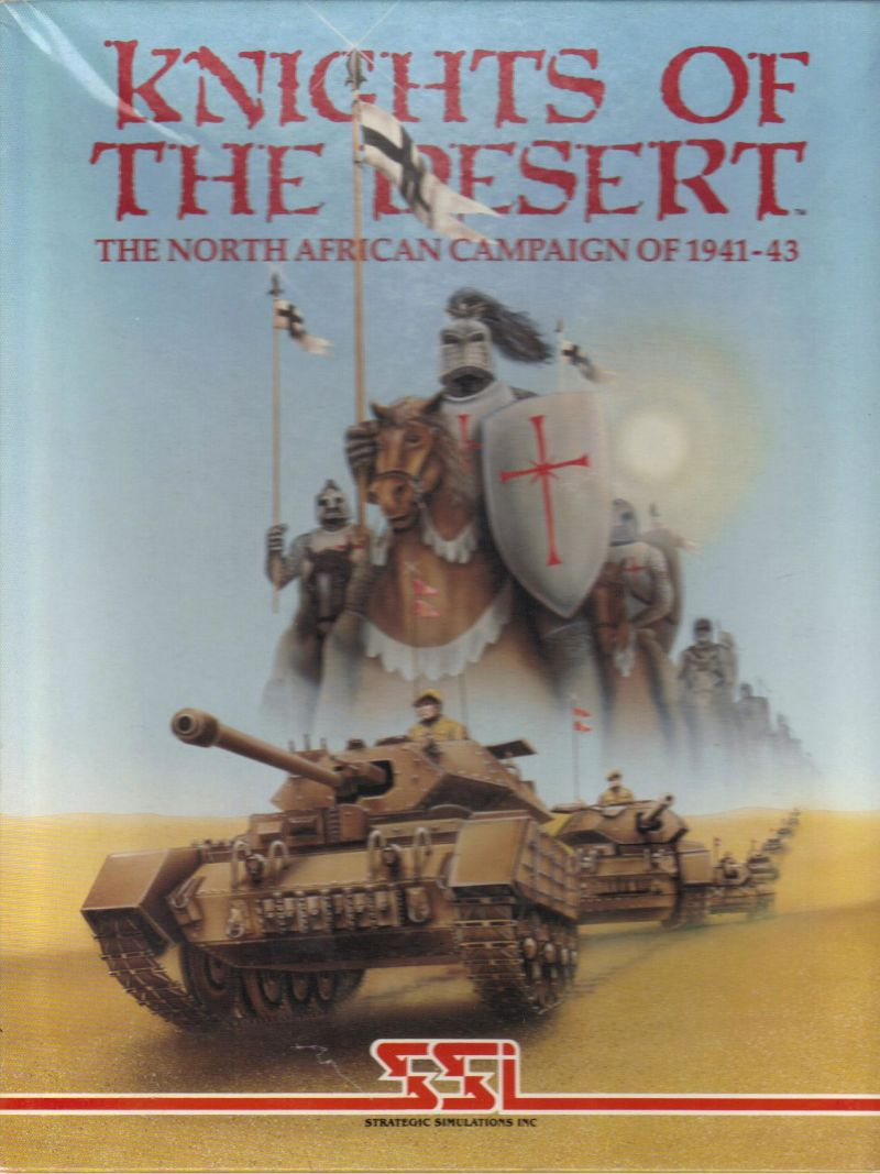 Knights of the Desert: The North African Campaign of 1941-43 Atari 8-bit Front Cover