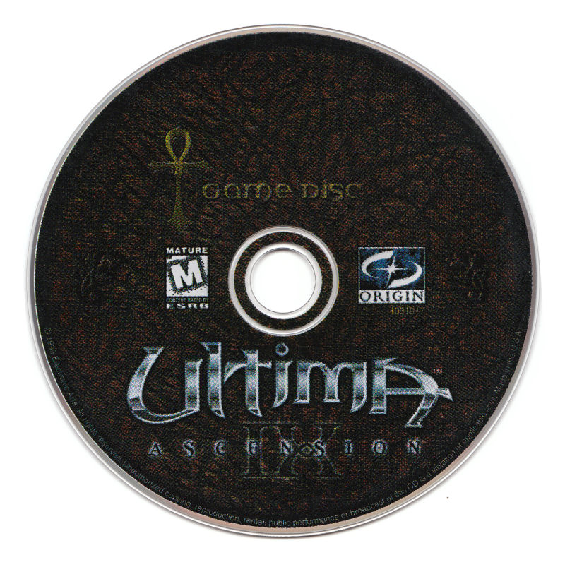 Ultima IX: Ascension (Dragon Edition) Windows Media Game Disc