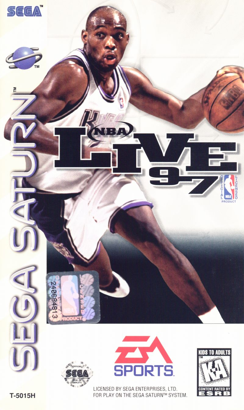 NBA Live 97 SEGA Saturn Front Cover