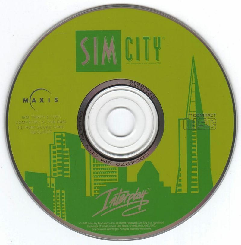 SimCity: Enhanced CD-ROM DOS Media