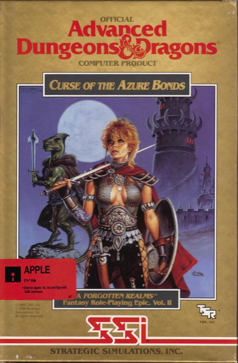 Curse of the Azure Bonds Apple II Front Cover