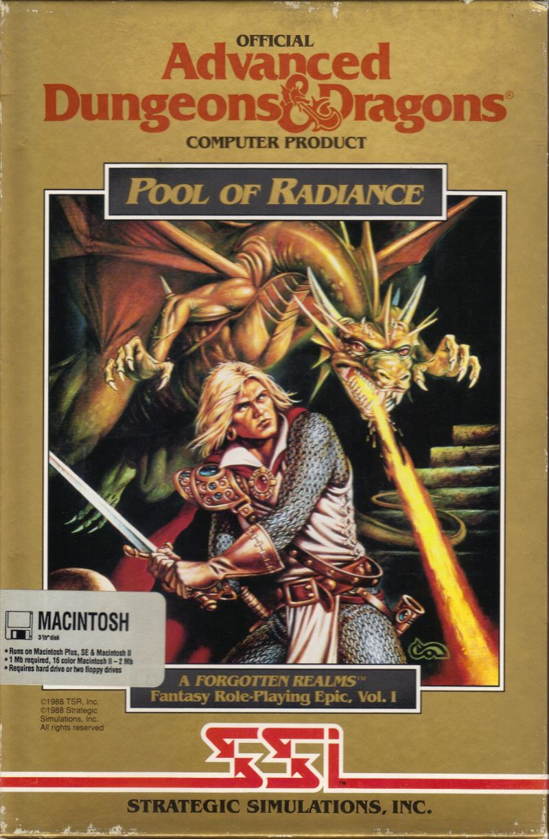 Pool of Radiance Macintosh Front Cover