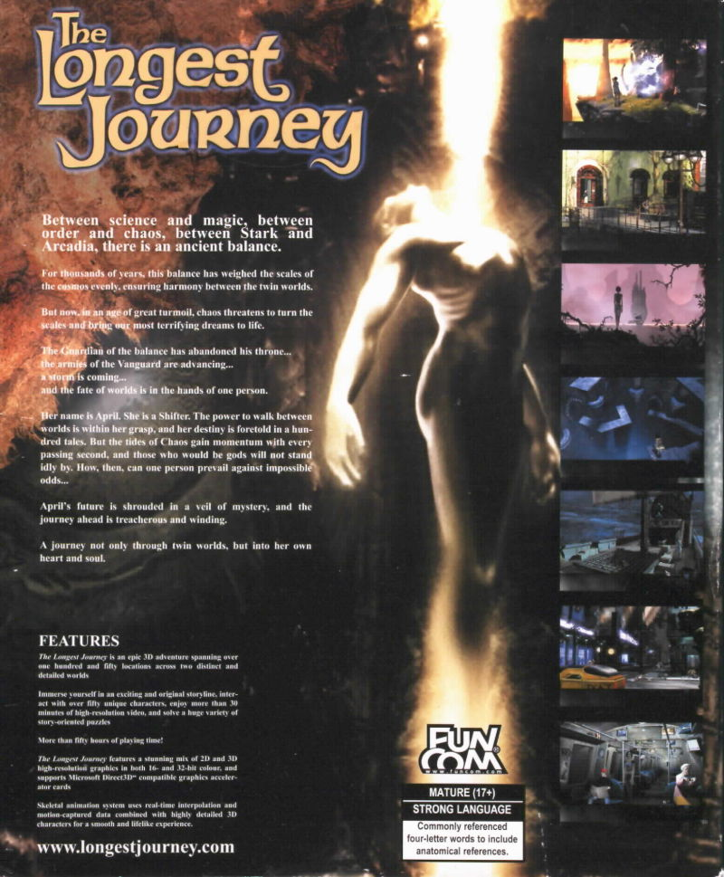 The Longest Journey Windows Back Cover
