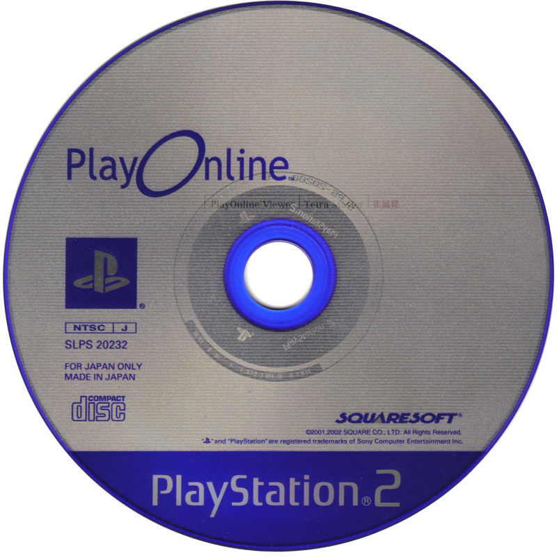 Final Fantasy XI Online PlayStation 2 Media PlayOnline Disc