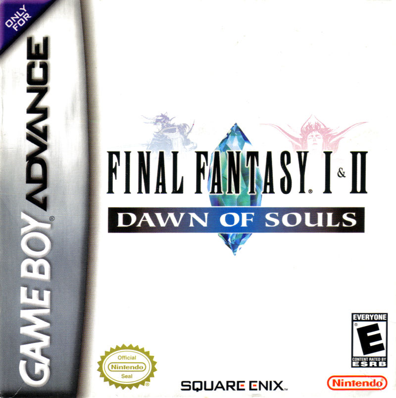 Final Fantasy I & II: Dawn of Souls Game Boy Advance Front Cover