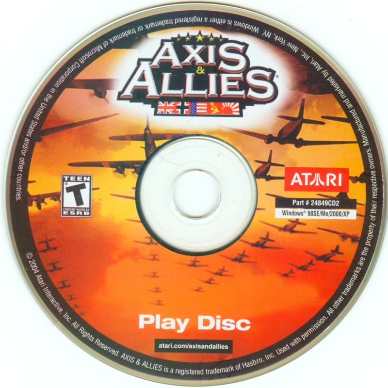 Axis & Allies Windows Media Play Disc