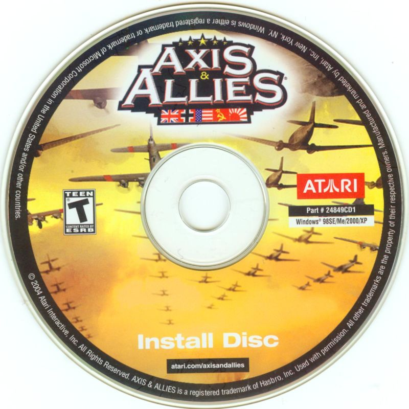 Axis & Allies Windows Media Install Disc