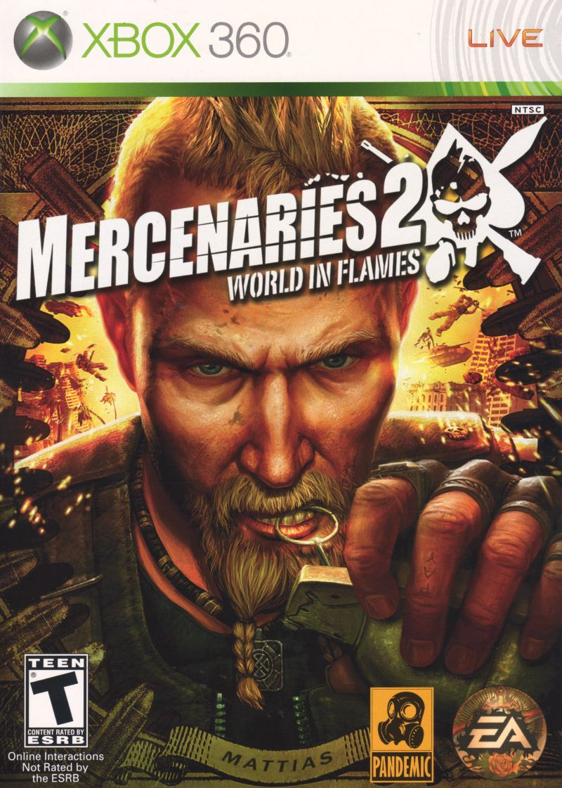Mercenaries 2: World in Flames Xbox 360 Front Cover