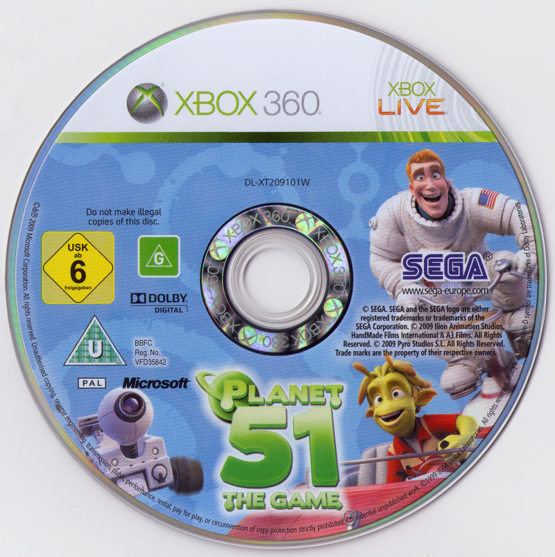 Planet 51: The Game Xbox 360 Media