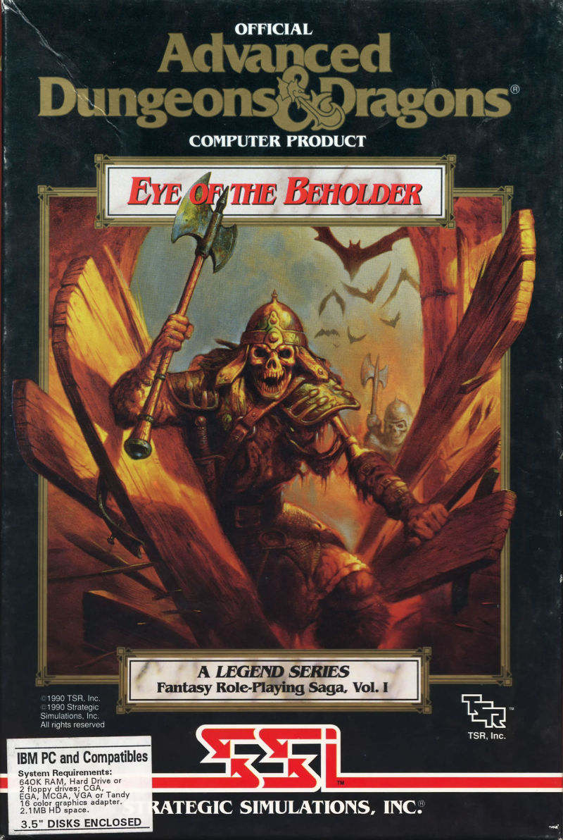 Eye of the Beholder DOS Front Cover
