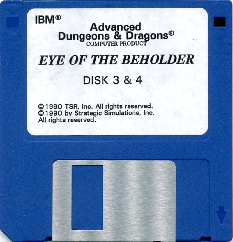 Eye of the Beholder DOS Media Disk #2 (Sides 3&4)