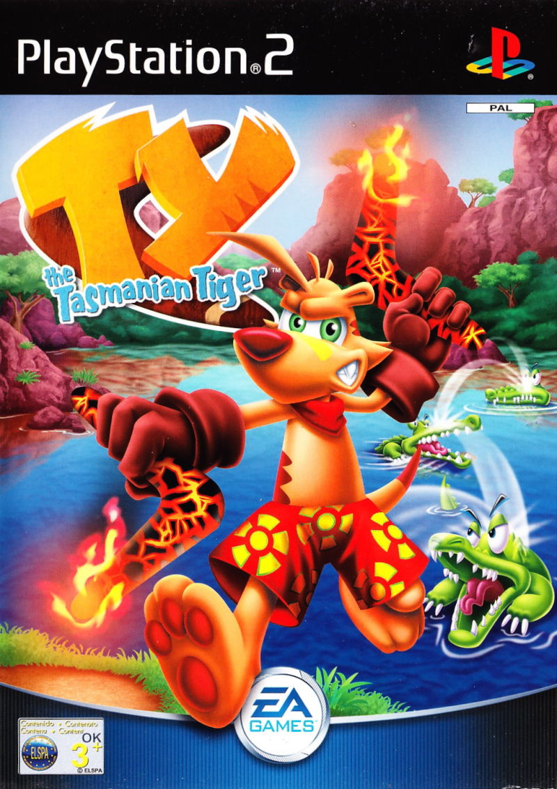Ty the Tasmanian Tiger PlayStation 2 Front Cover
