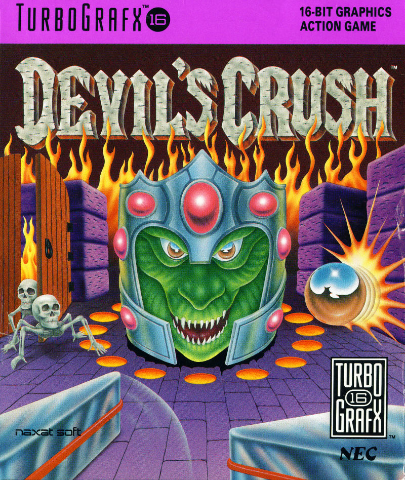 Devil's Crush TurboGrafx-16 Front Cover