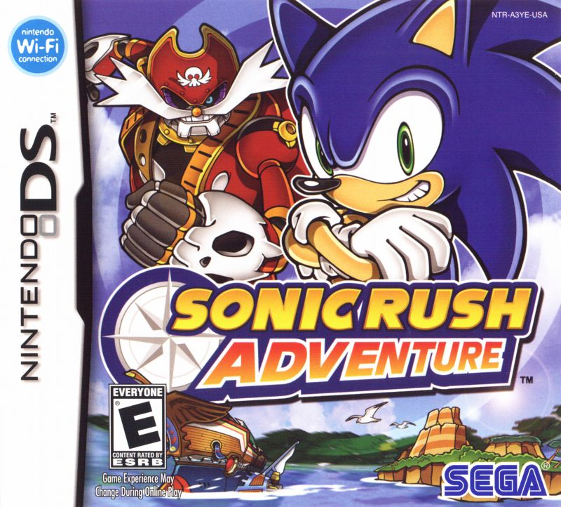 Sonic Rush Adventure Nintendo DS Front Cover