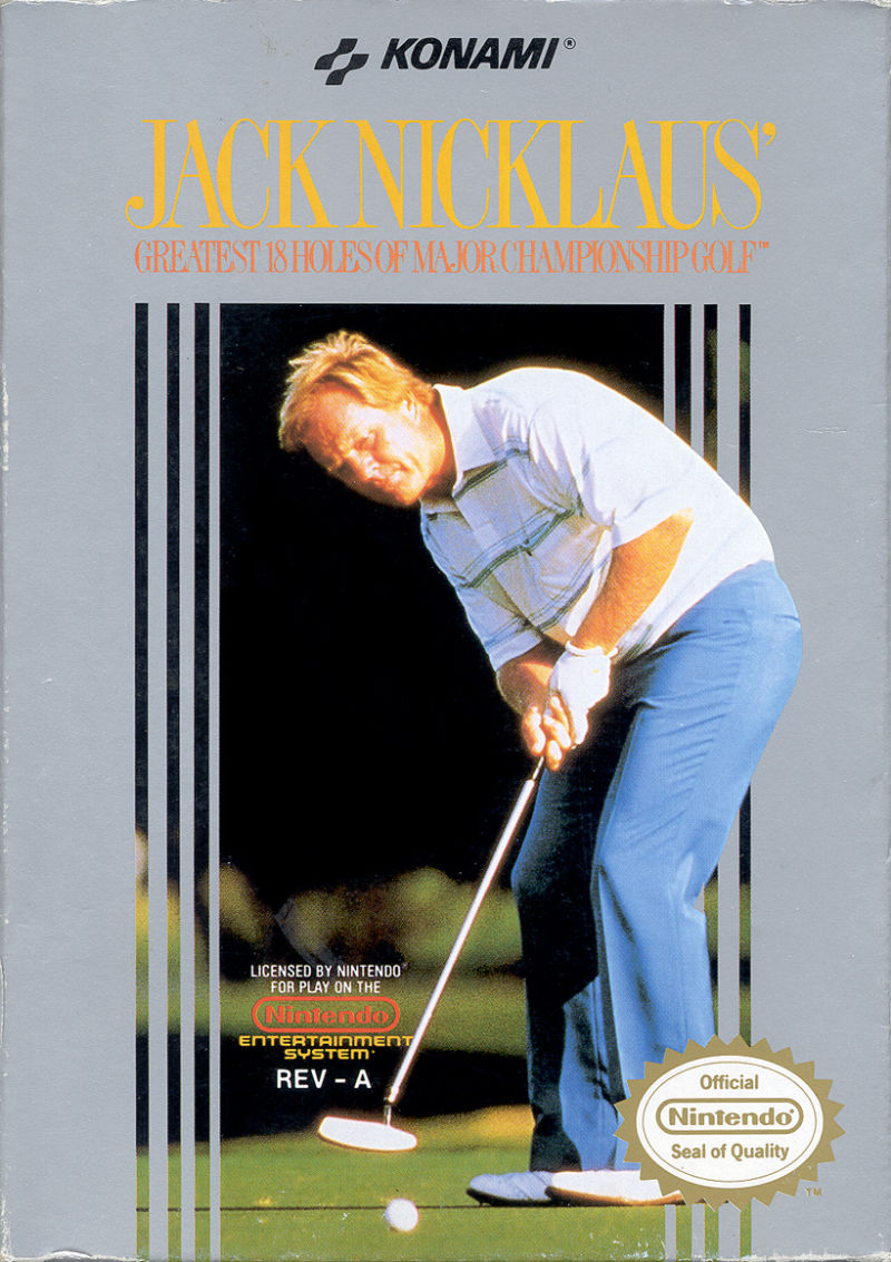 Jack Nicklaus' Greatest 18 Holes of Major Championship Golf NES Front Cover