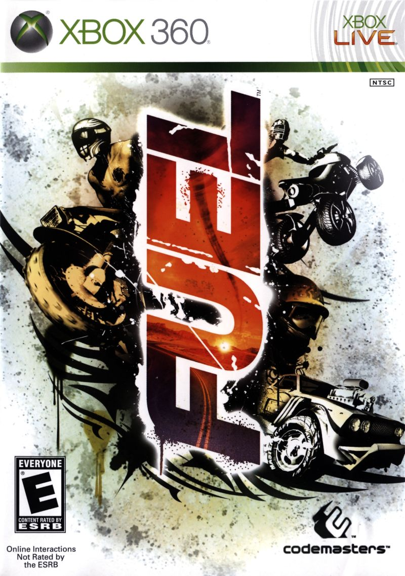 FUEL (2009) Xbox 360 box cover art - MobyGames Xbox 360 Game Cover Size