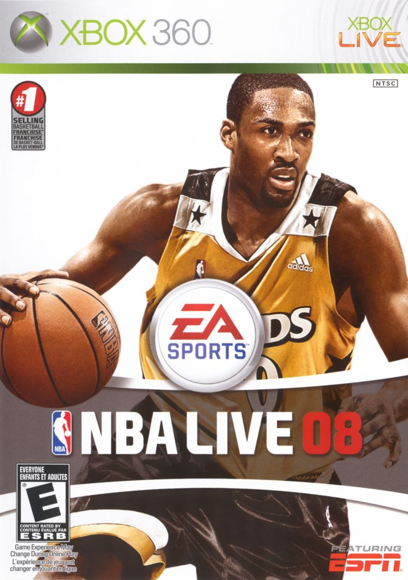 NBA Live 08 Xbox 360 Front Cover