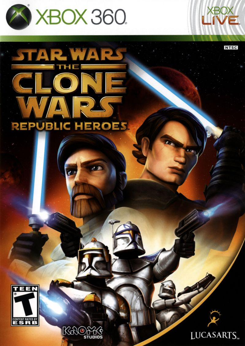 Star Wars: The Clone Wars - Republic Heroes Xbox 360 Front Cover