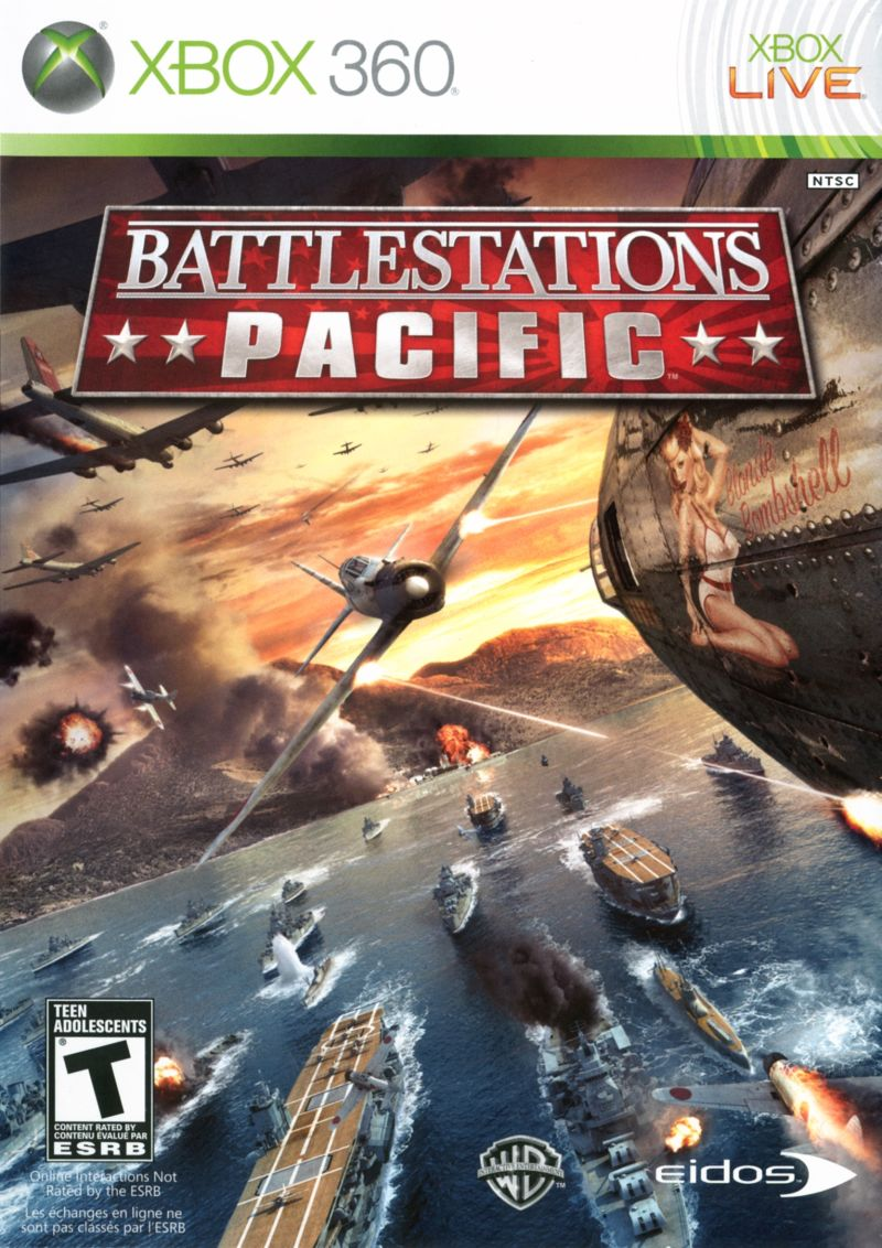 Battlestations: Pacific Xbox 360 Front Cover
