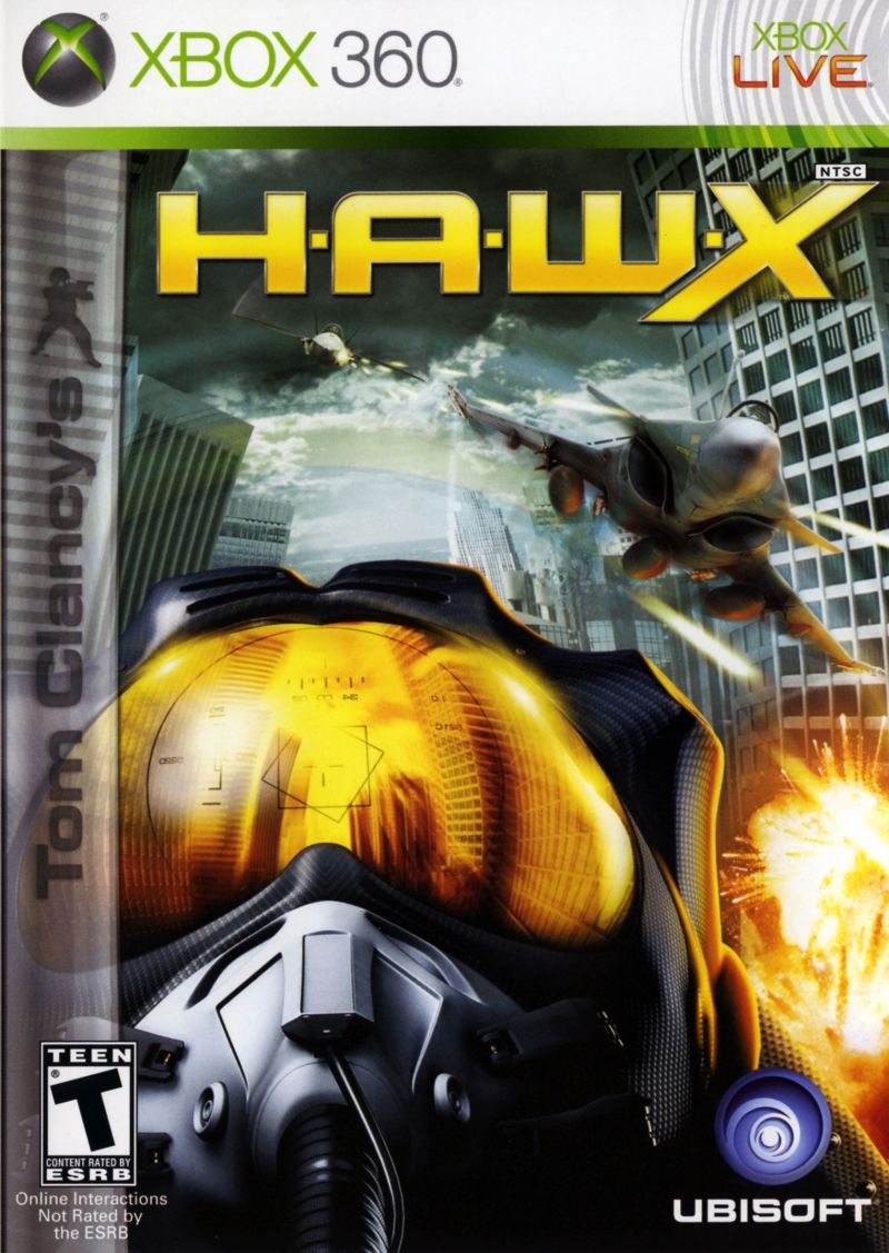 Tom Clancy's H.A.W.X for PlayStation 3 (2009) - MobyGames Xbox 360 Game Cover Art