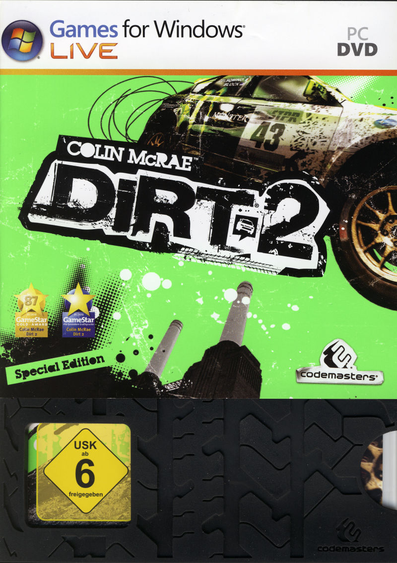 Colin McRae: DiRT 2 (Special Edition) Windows Front Cover