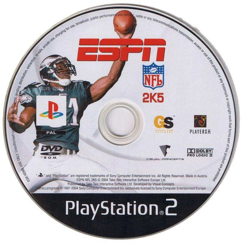 ESPN NFL 2K5 PlayStation 2 Media