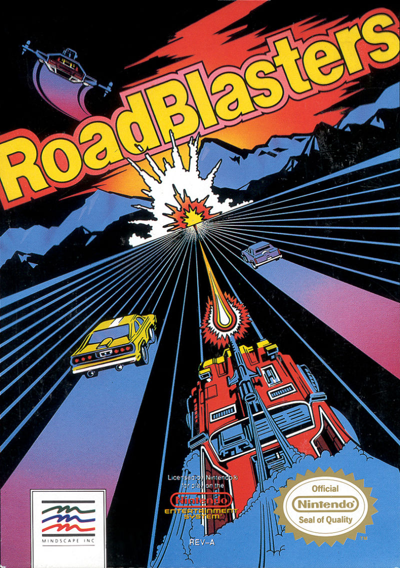 RoadBlasters NES Front Cover