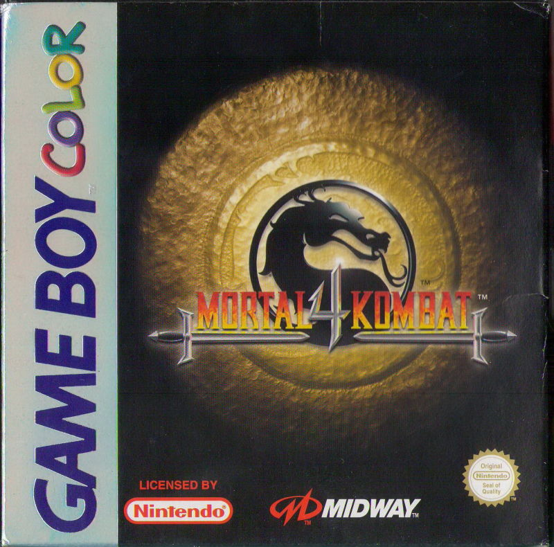 Mortal Kombat 4 Game Boy Color Front Cover