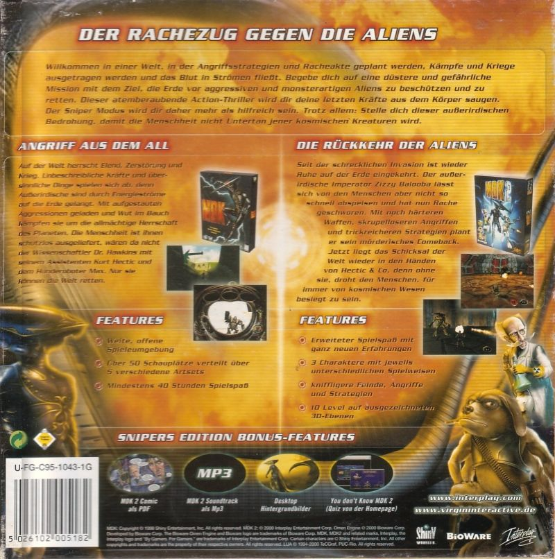 MDK: Snipers Edition Windows Back Cover