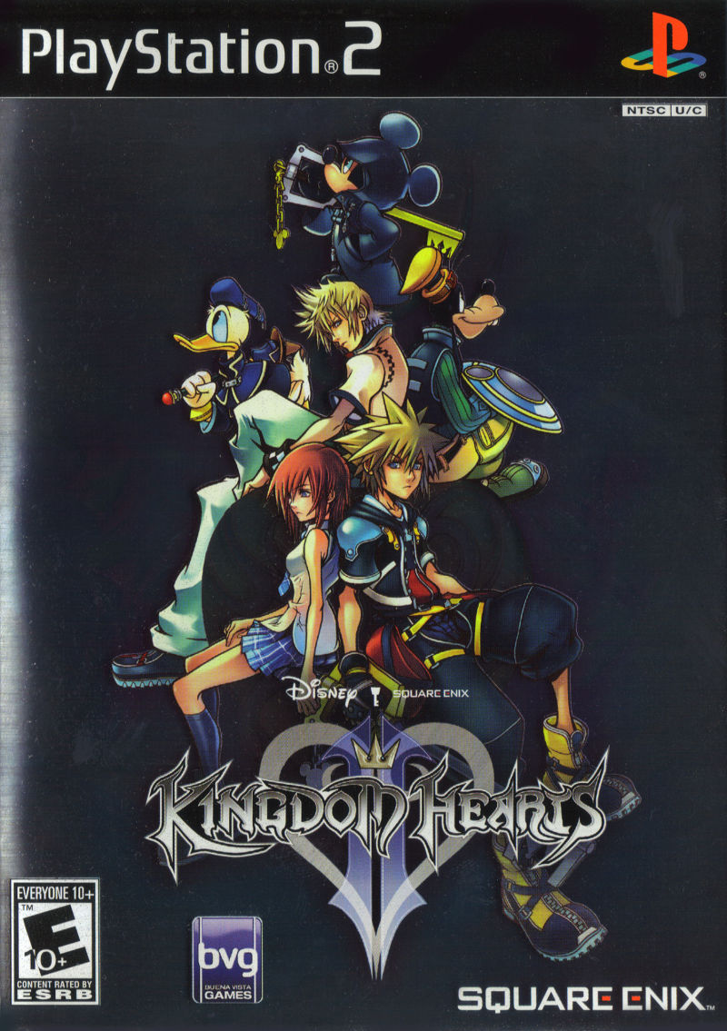 Kingdom Hearts II PlayStation 2 Front Cover