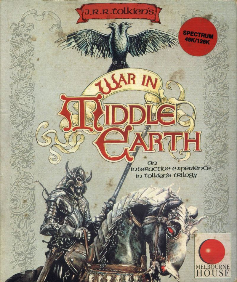 J.R.R. Tolkien's War in Middle Earth ZX Spectrum Front Cover