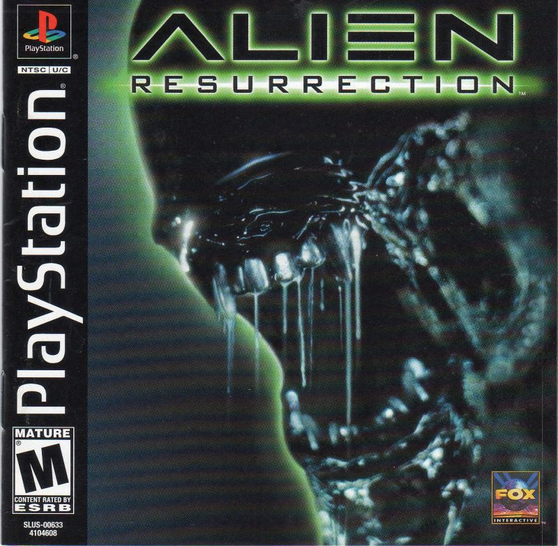 Alien Resurrection PlayStation Front Cover