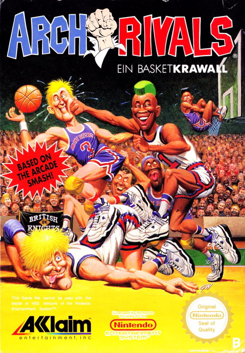 arch rivals 1990 nes box cover art mobygames