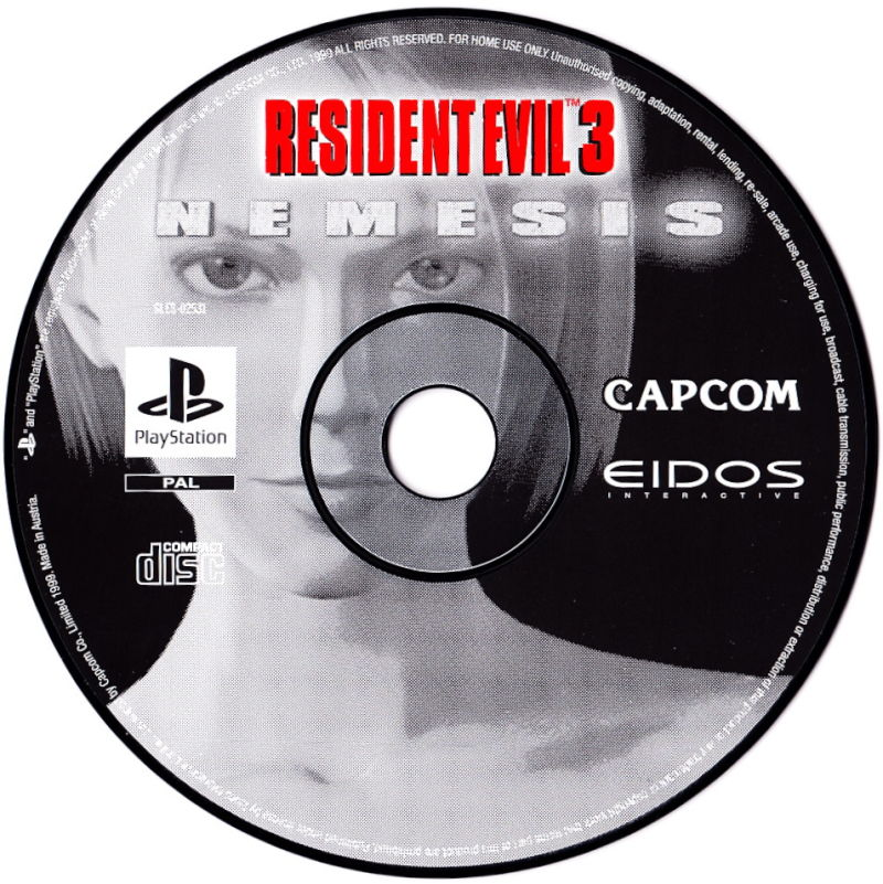 Resident Evil 3: Nemesis PlayStation Media
