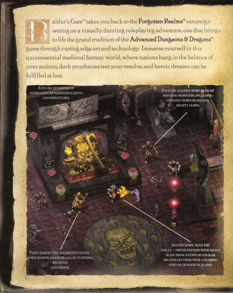 Baldur's Gate Windows Inside Cover Left Flap