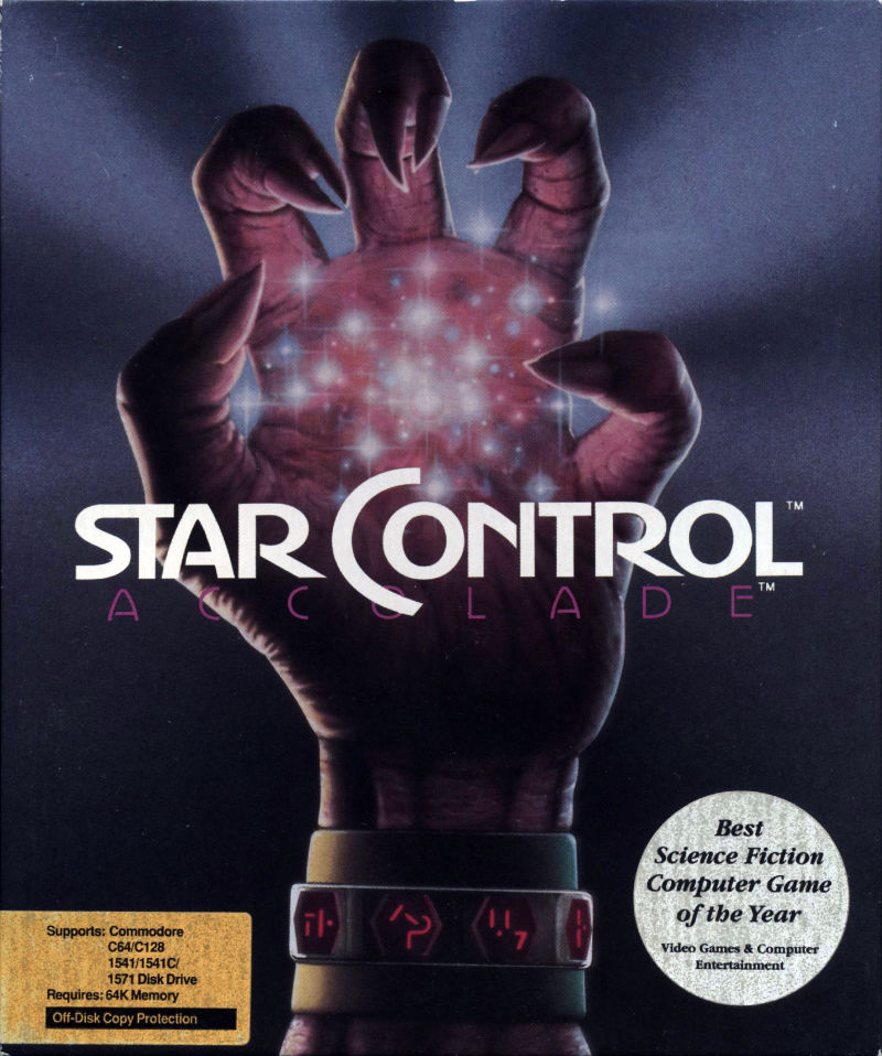 Star Control Commodore 64 Front Cover