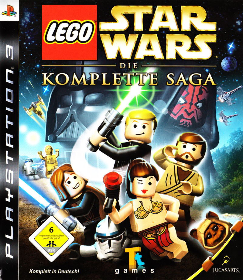 LEGO Star Wars: The Complete Saga (2007) PlayStation 3 box cover art ...