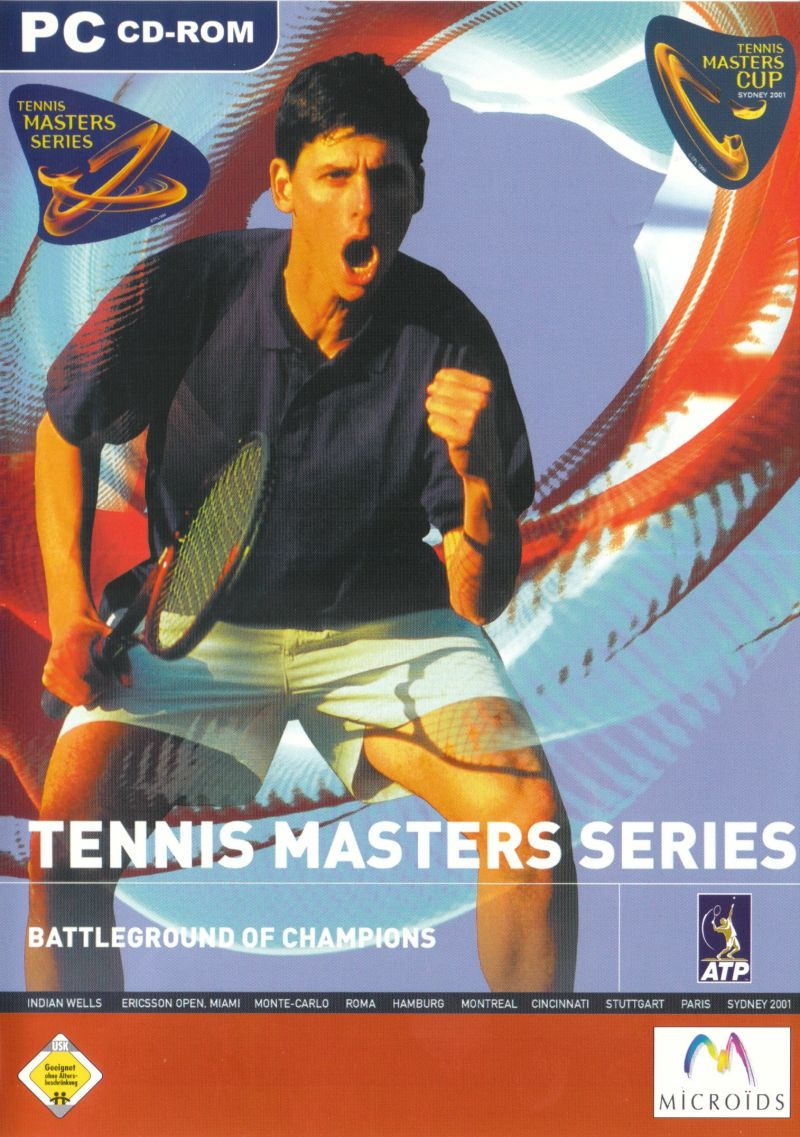 tennis masters series 2001 windows box cover art mobygames