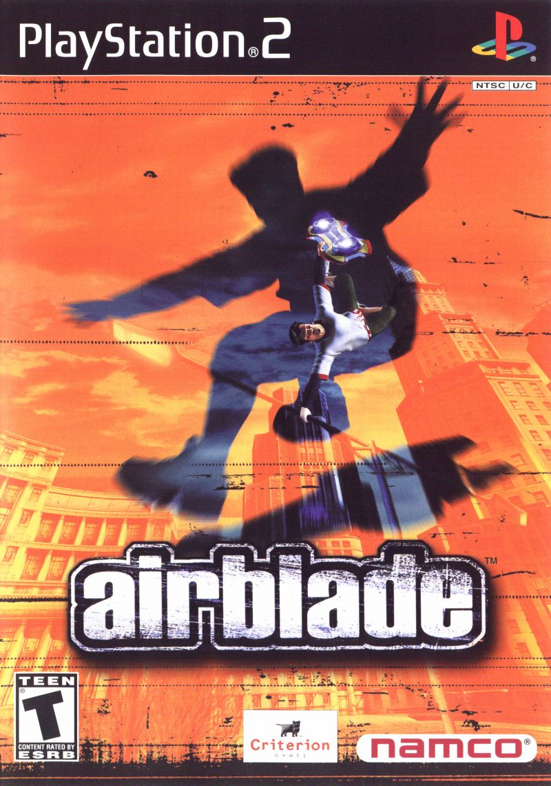 AirBlade (2001) PlayStation 2 box cover art - MobyGames
